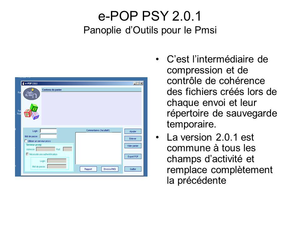 e-POP PSY 2.0.1 Panoplie d'Outils pour le Pmsi