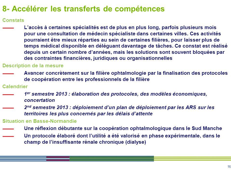 8- Accélérer les transferts de compétences