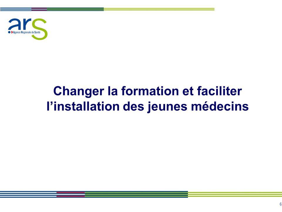 Changer la formation et faciliter l'installation des jeunes médecins
