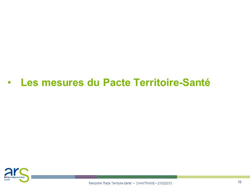 Les mesures du Pacte Territoire-Santé