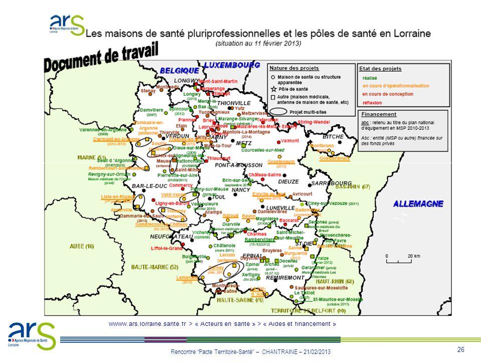 wwww. ars. lorraine. sante