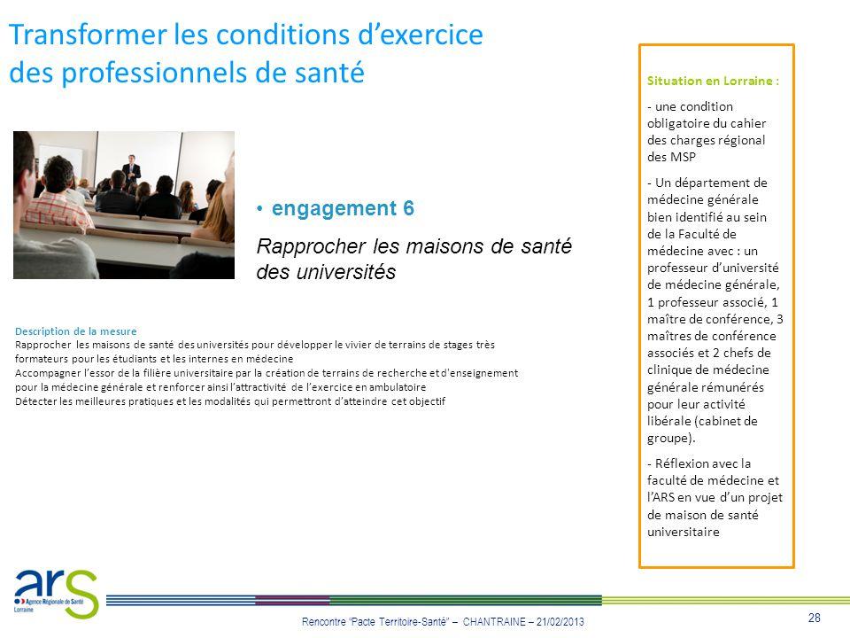 Transformer les conditions d'exercice des professionnels de santé