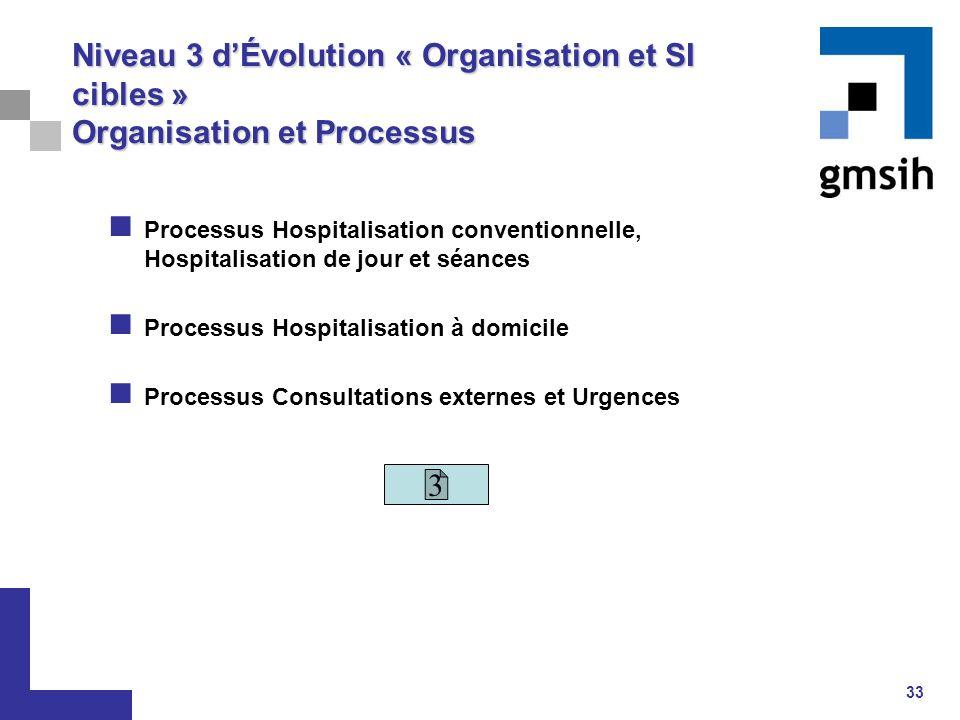 Niveau 3 d'Évolution « Organisation et SI cibles » Organisation et Processus