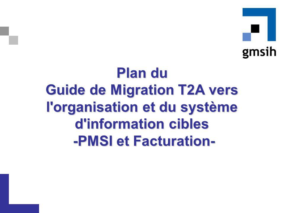 Plan du Guide de Migration T2A vers l organisation et du système d information cibles -PMSI et Facturation-