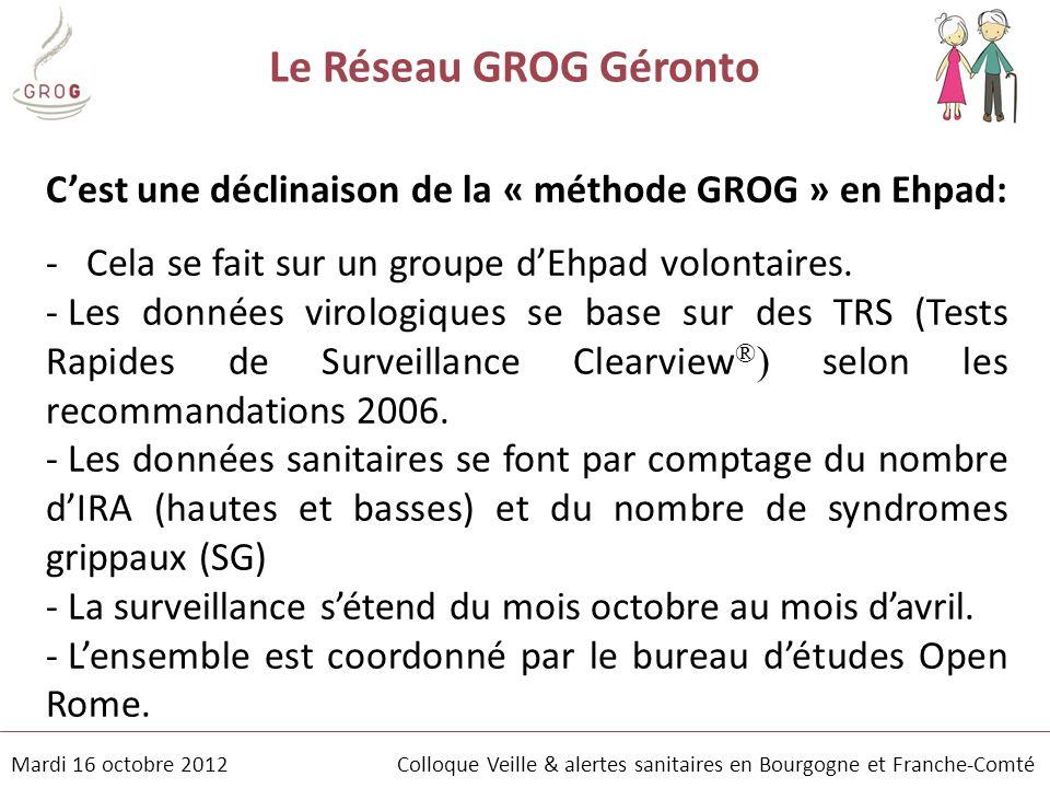 Le Réseau GROG Géronto C'est une déclinaison de la « méthode GROG » en Ehpad: Cela se fait sur un groupe d'Ehpad volontaires.