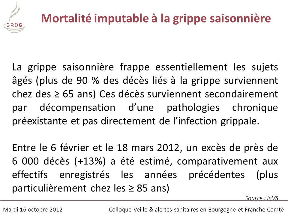 Mortalité imputable à la grippe saisonnière