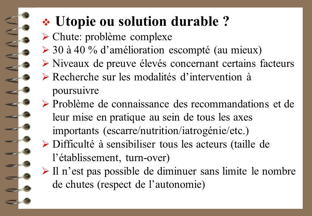 Utopie ou solution durable