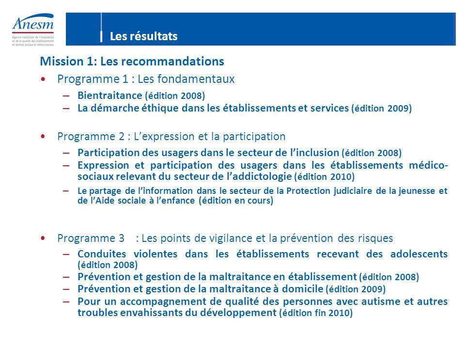 Mission 1: Les recommandations