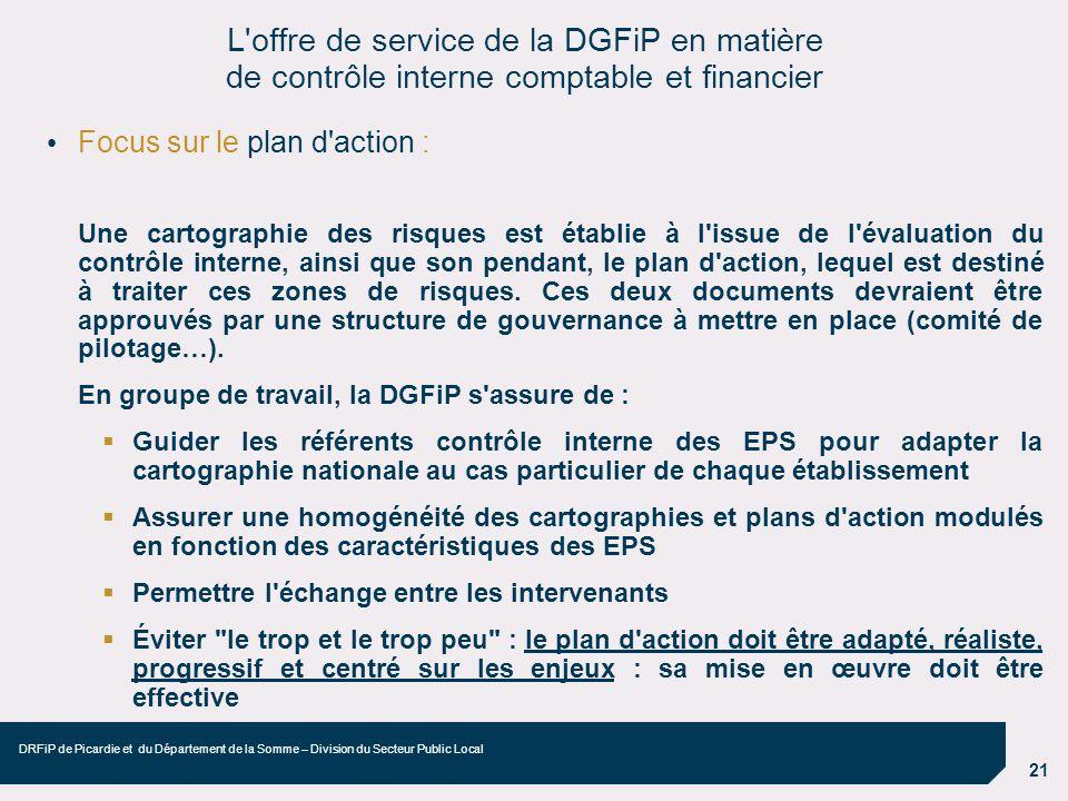 L offre de service de la DGFiP en matière de contrôle interne comptable et financier