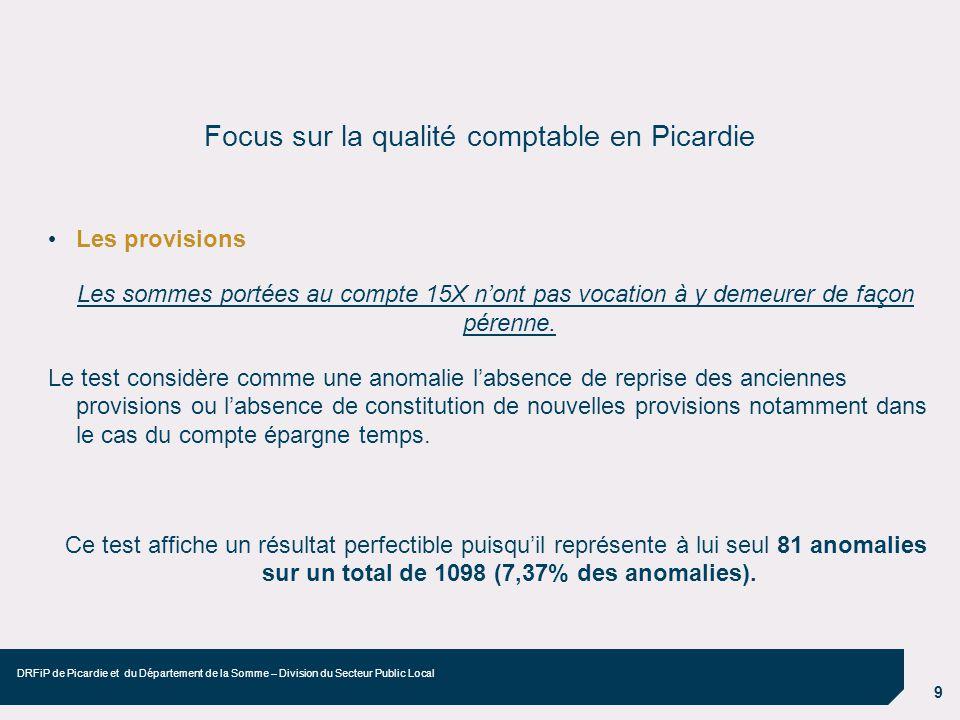 Focus sur la qualité comptable en Picardie