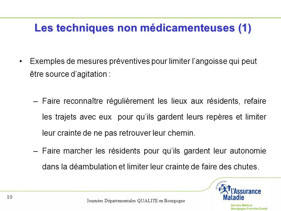 Les techniques non médicamenteuses (1)