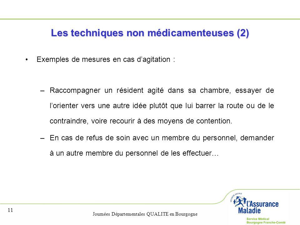 Les techniques non médicamenteuses (2)