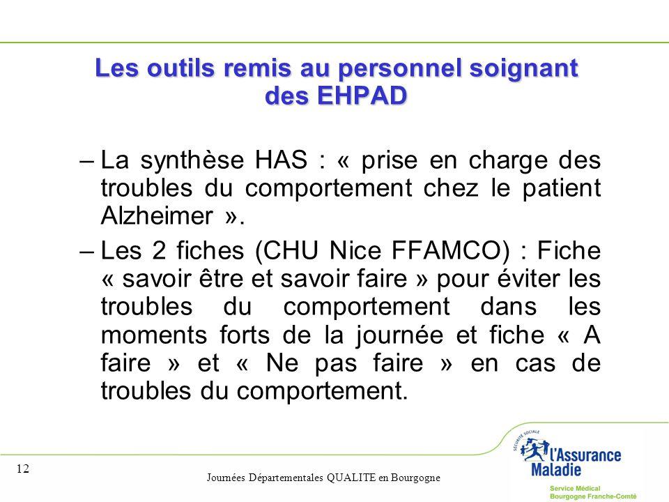 Les outils remis au personnel soignant des EHPAD