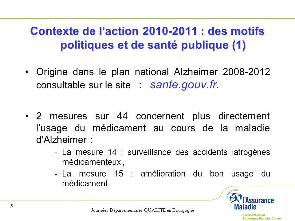 31/03/2017 Contexte de l'action 2010-2011 : des motifs politiques et de santé publique (1)