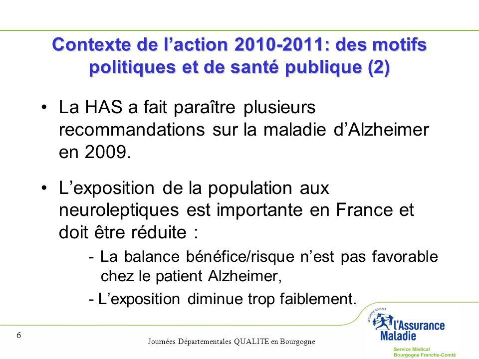 Contexte de l'action 2010-2011: des motifs politiques et de santé publique (2)