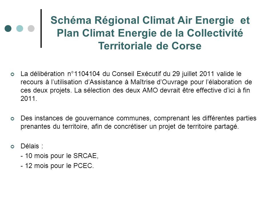 Schéma Régional Climat Air Energie et Plan Climat Energie de la Collectivité Territoriale de Corse