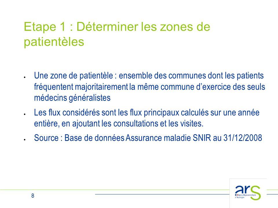 Etape 1 : Déterminer les zones de patientèles