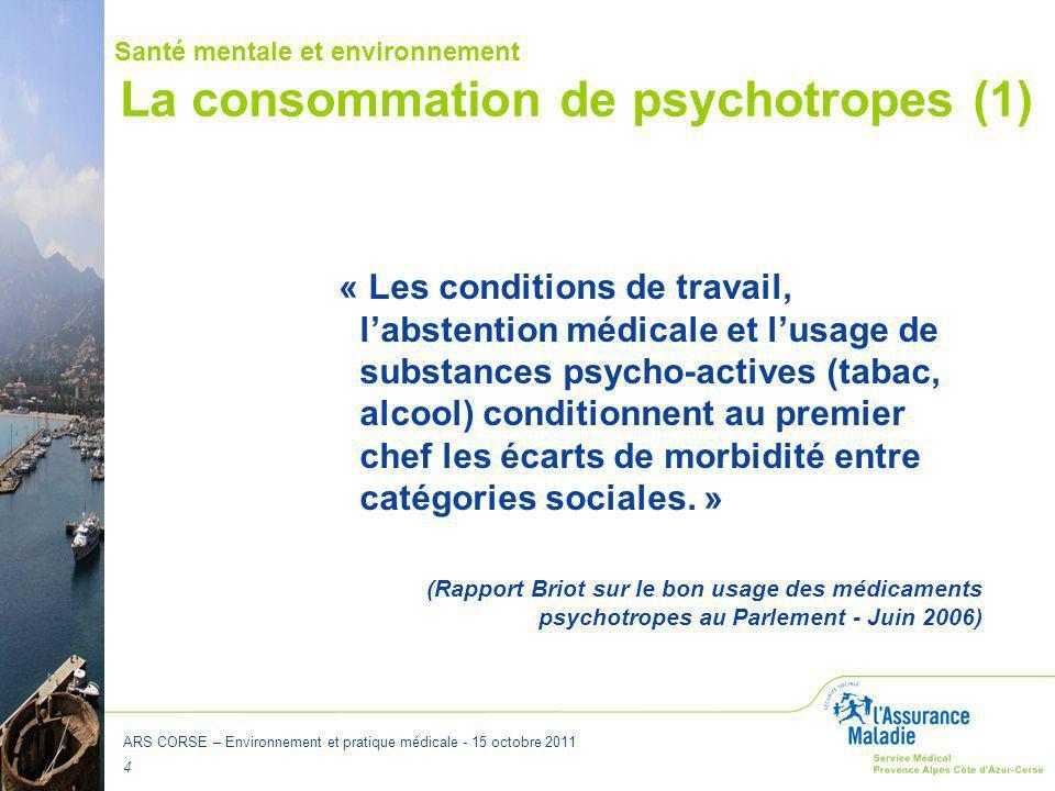 La consommation de psychotropes (1)