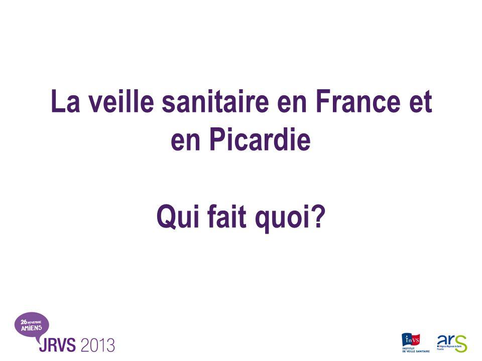 La veille sanitaire en France et en Picardie Qui fait quoi