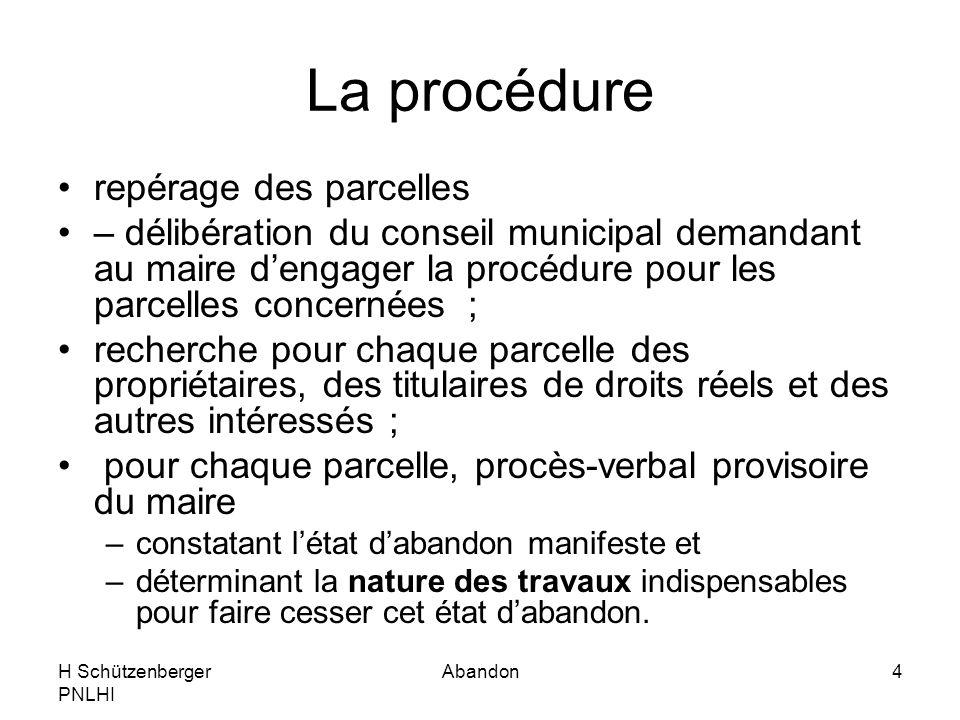 La procédure repérage des parcelles