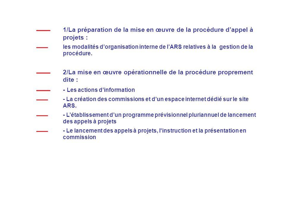 2/La mise en œuvre opérationnelle de la procédure proprement dite :