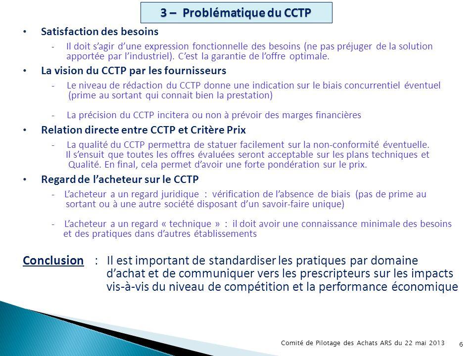 3 – Problématique du CCTP