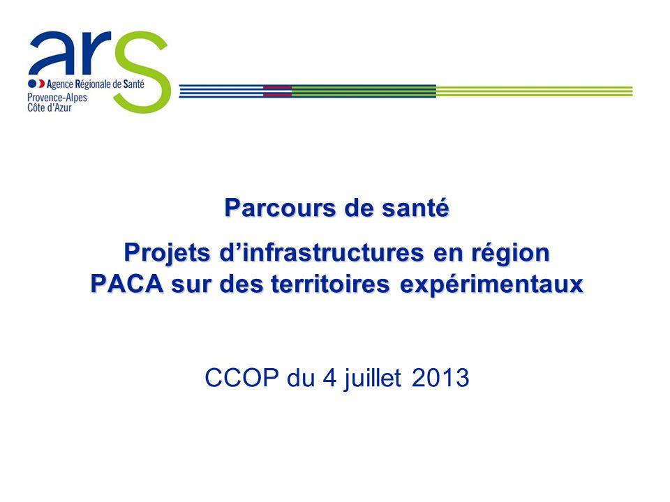 Parcours de santé Projets d'infrastructures en région PACA sur des territoires expérimentaux CCOP du 4 juillet 2013