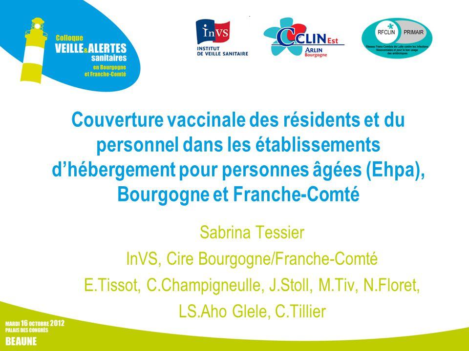 Couverture vaccinale des résidents et du personnel dans les établissements d'hébergement pour personnes âgées (Ehpa), Bourgogne et Franche-Comté