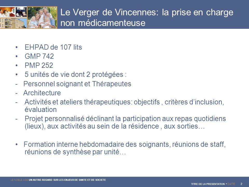 Le Verger de Vincennes: la prise en charge non médicamenteuse