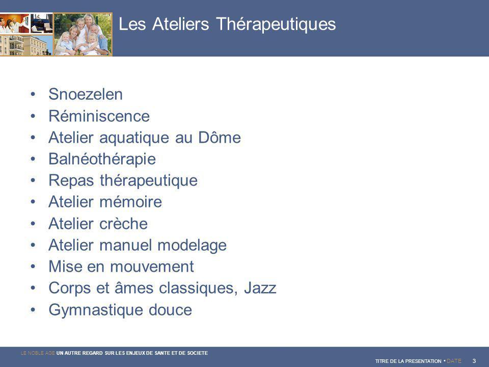 Les Ateliers Thérapeutiques