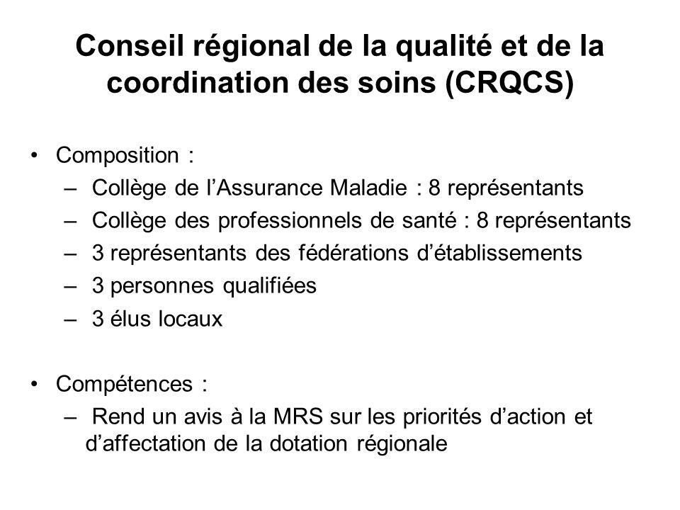 Conseil régional de la qualité et de la coordination des soins (CRQCS)
