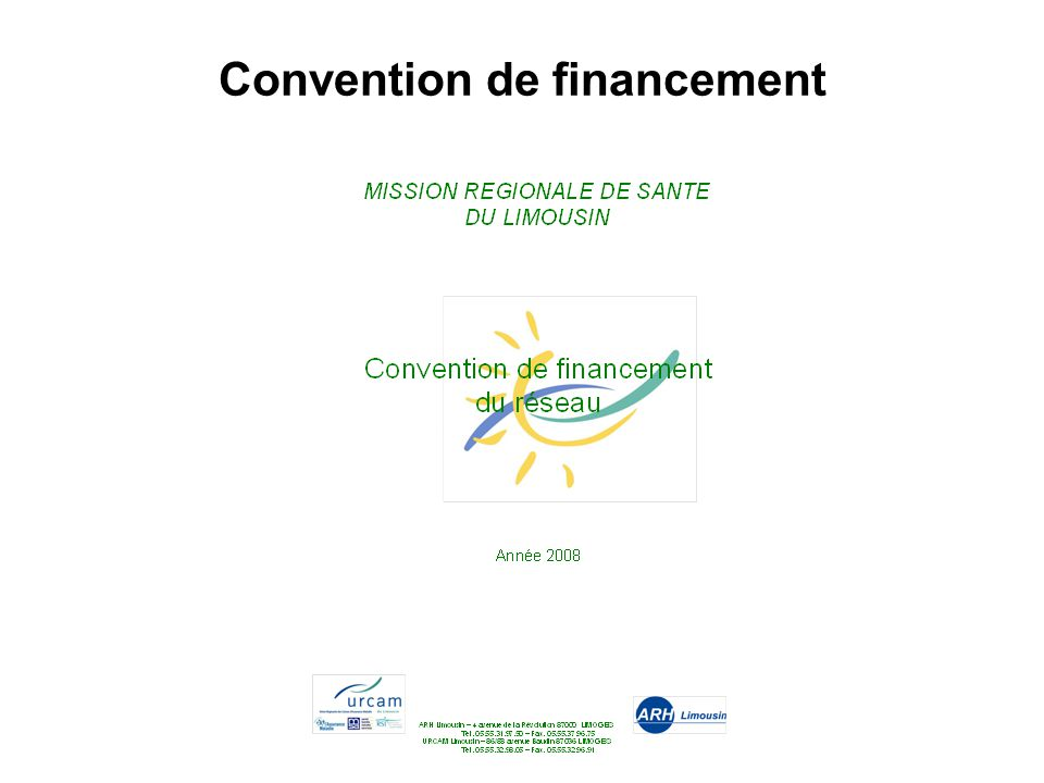 Convention de financement