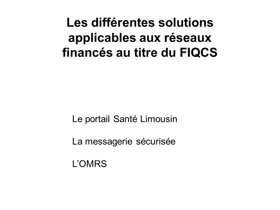 Les différentes solutions applicables aux réseaux financés au titre du FIQCS