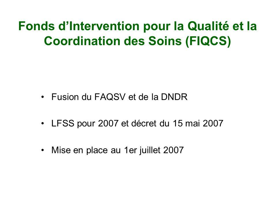 Fonds d'Intervention pour la Qualité et la Coordination des Soins (FIQCS)