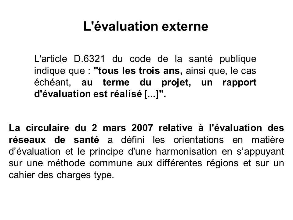 L évaluation externe