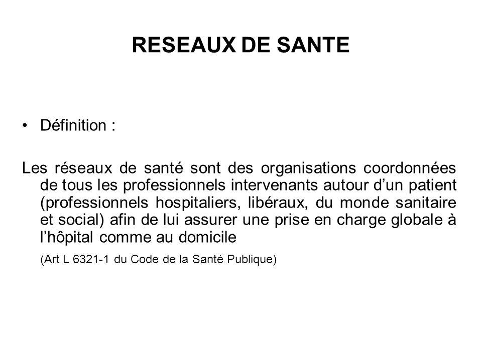 RESEAUX DE SANTE Définition :