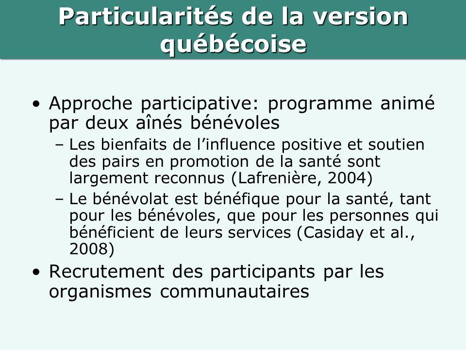 Particularités de la version québécoise