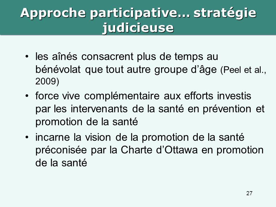 Approche participative… stratégie judicieuse