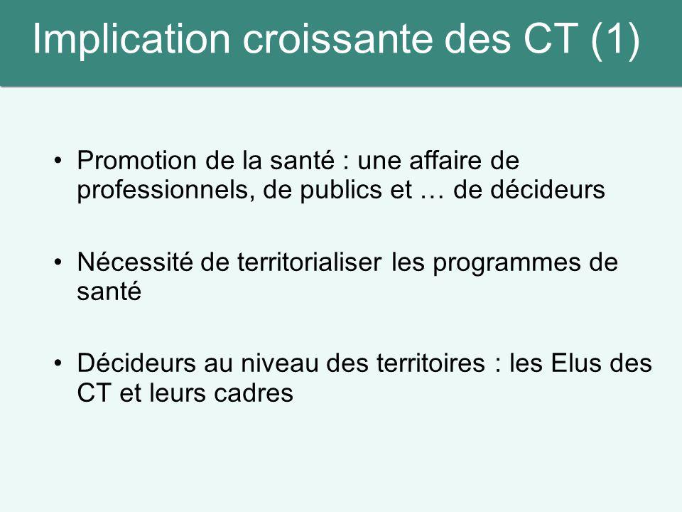 Implication croissante des CT (1)