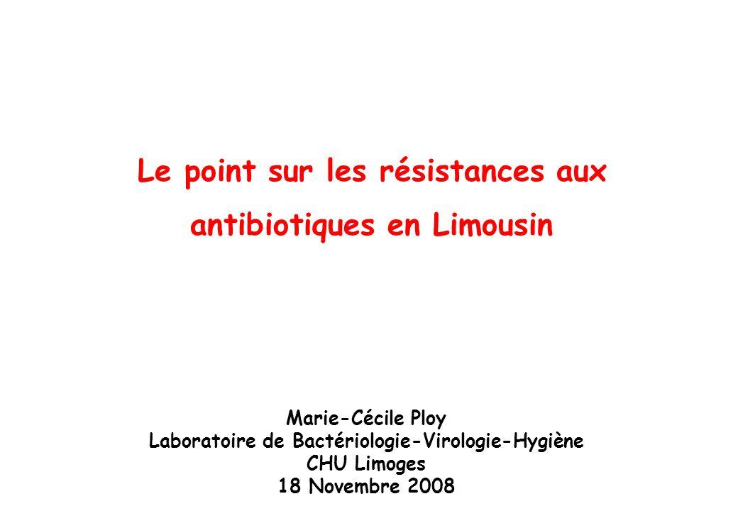Le point sur les résistances aux antibiotiques en Limousin