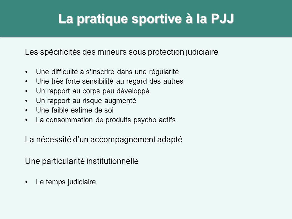 La pratique sportive à la PJJ
