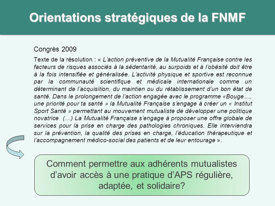 Orientations stratégiques de la FNMF
