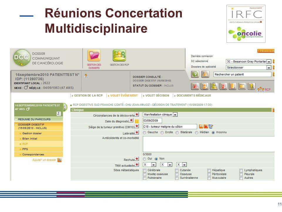 Réunions Concertation Multidisciplinaire