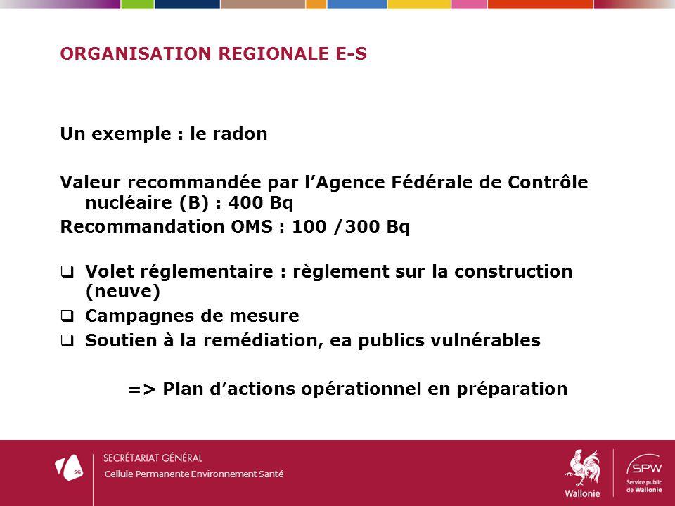 Organisation regionale E-S