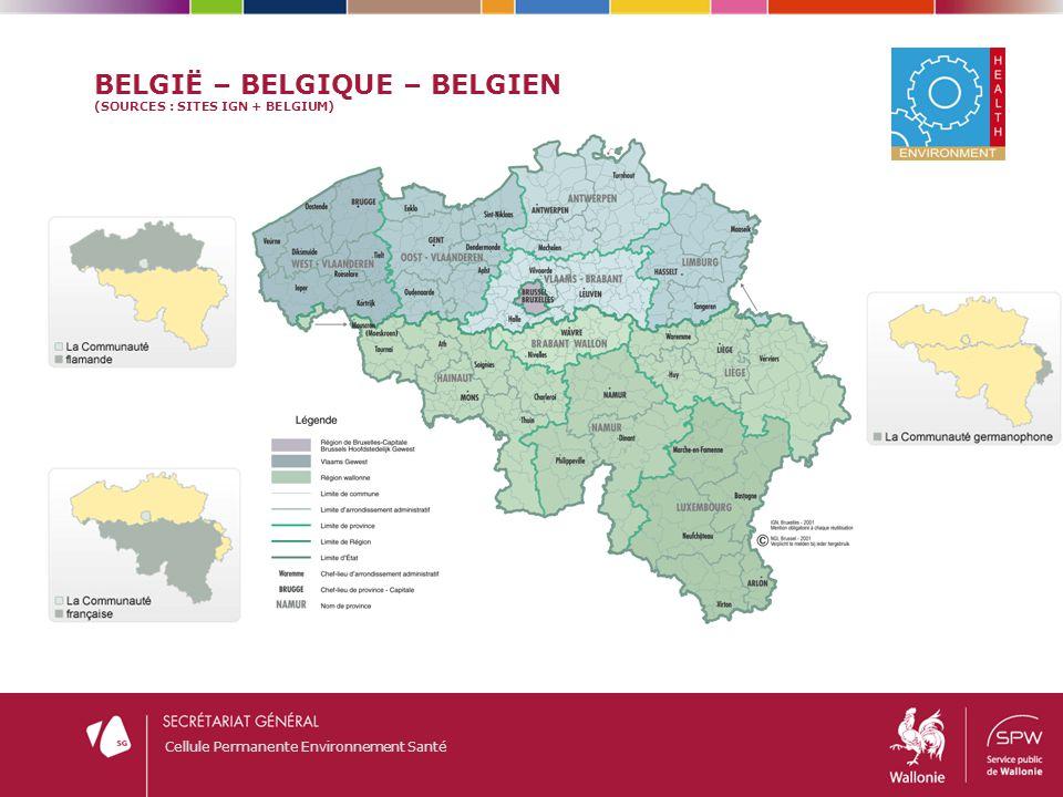 België – Belgique – Belgien (sourceS : sites IGN + Belgium)