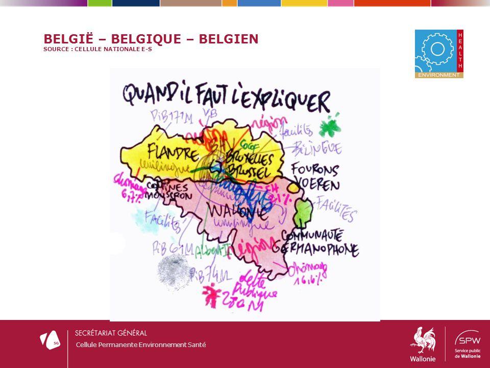 België – Belgique – Belgien Source : Cellule nationale E-S