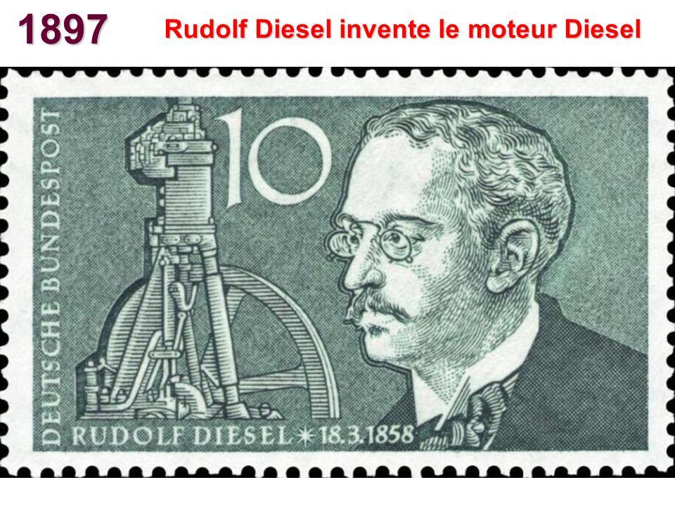 Rudolf Diesel invente le moteur Diesel