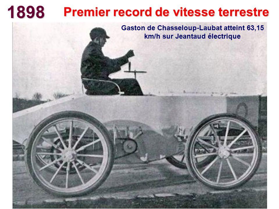 1898 Premier record de vitesse terrestre