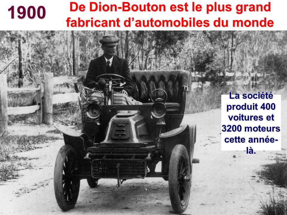1900 De Dion-Bouton est le plus grand fabricant d'automobiles du monde