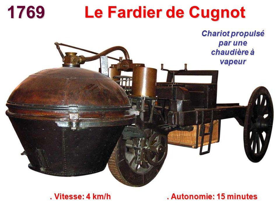 Chariot propulsé par une chaudière à vapeur